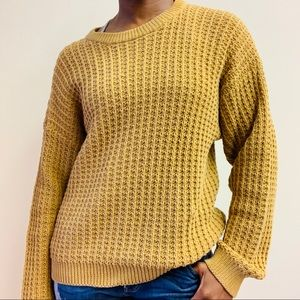 Vintage Sweaters - vintage 1990s chunky knit brown tan sweater
